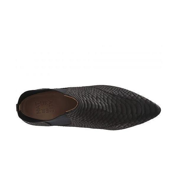 Naturalizer ナチュラライザー レディース 女性用 シューズ 靴 ブーツ アンクルブーツ ショート Piper - Black Gloss Snake