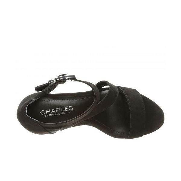 Charles by Charles David チャールズ レディース 女性用 シューズ 靴 ヒール Leanna - Black Microsuede