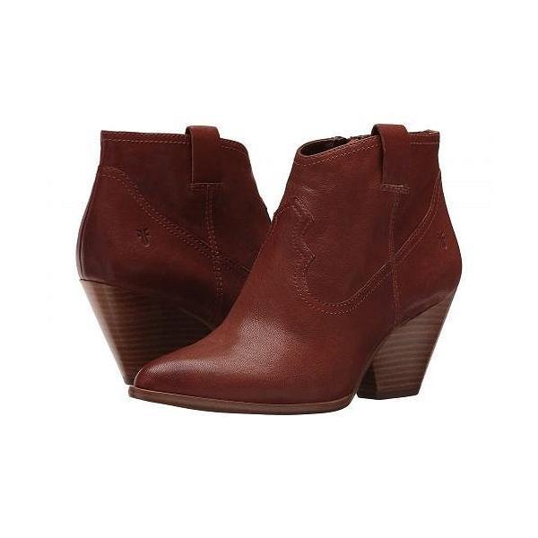 Frye フライ レディース 女性用 シューズ 靴 ブーツ アンクルブーツ ショート Reina Bootie - Cognac