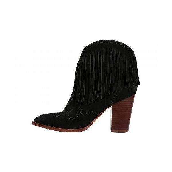 Sam Edelman サムエデルマン レディース 女性用 シューズ 靴 ブーツ アンクルブーツ ショート Benjie - Black Anita Nubuck Leather