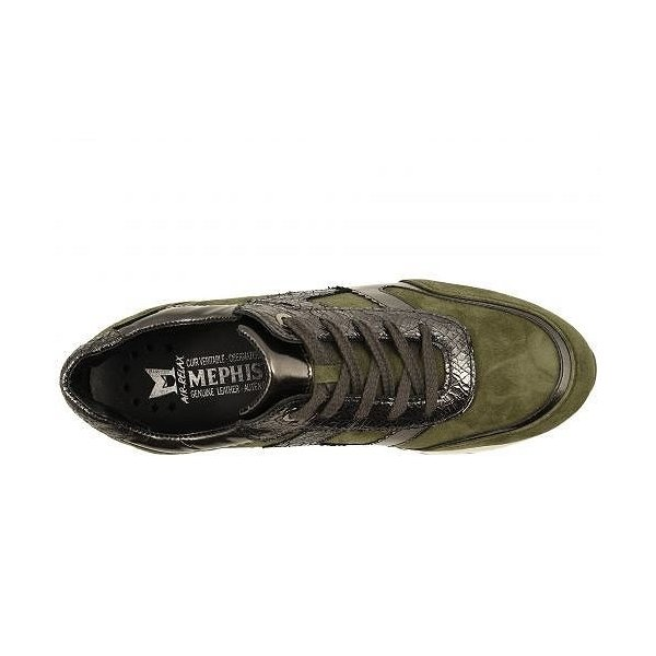 Mephisto メフィスト レディース 女性用 シューズ 靴 スニーカー 運動靴 Trecy - Khaki Green Velcalf Premium/Dark Grey Magic/Ice