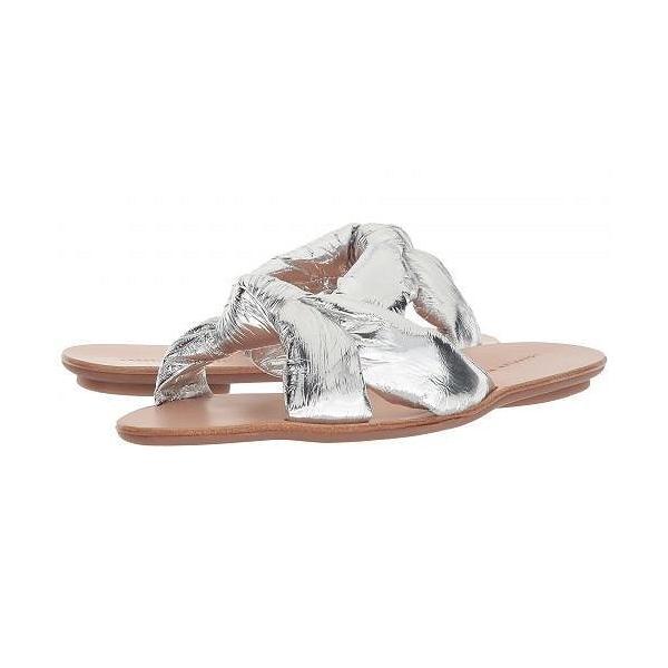 Loeffler Randall ロフラーランドール レディース 女性用 シューズ 靴 サンダル Iris - Silver Metallic Foiled Leather