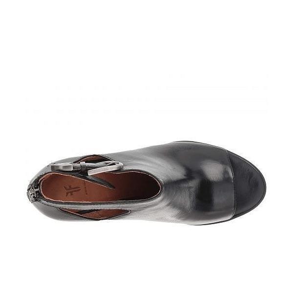 Frye フライ レディース 女性用 シューズ 靴 ブーツ アンクルブーツ ショート Dani Cut Out Bootie - Black Waxed Full Veg