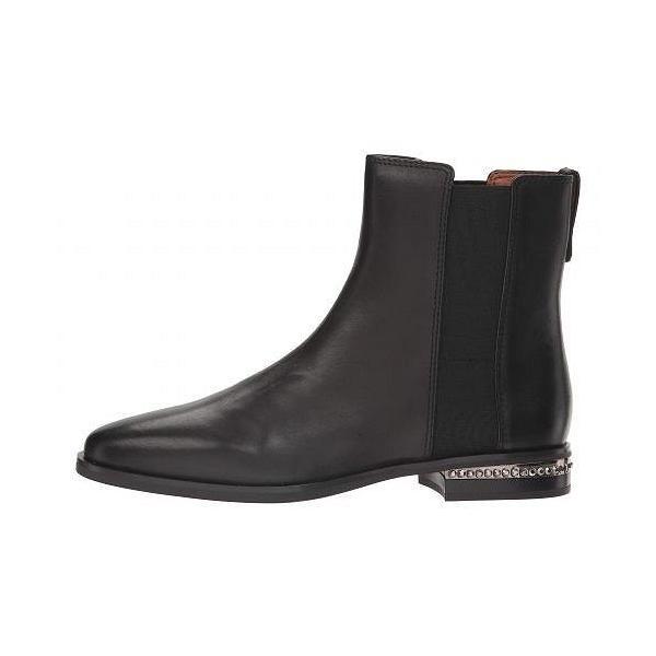 Franco Sarto フランコサルト レディース 女性用 シューズ 靴 ブーツ チェルシーブーツ アンクル Racine - Black Premier Calf Leather