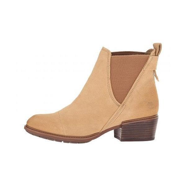 Timberland ティンバーランド レディース 女性用 シューズ 靴 ブーツ チェルシーブーツ アンクル Sutherlin Bay Double Gore Chelsea - Medium Beige Suede