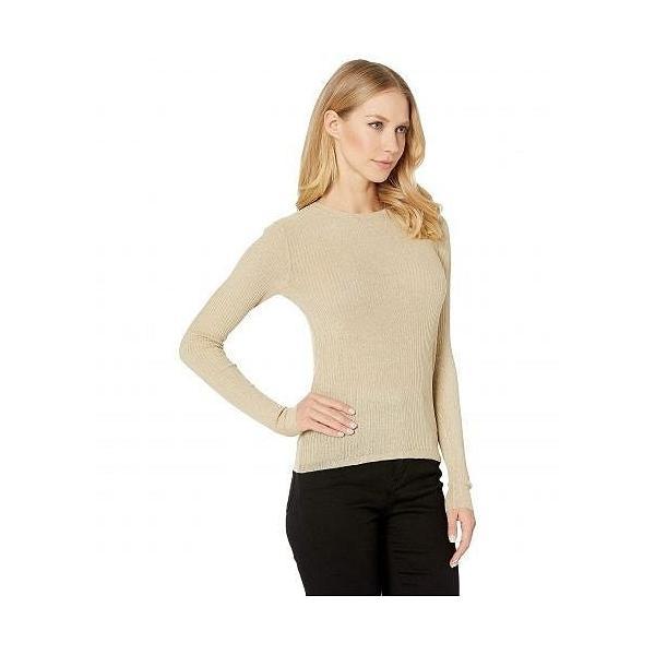 Juicy Couture ジューシークチュール レディース 女性用 ファッション セーター Lurex Rib Knit Top - 15080 Dusted Gold