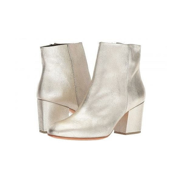 Rachel Comey レイチェルコーミー レディース 女性用 シューズ 靴 ブーツ アンクルブーツ ショート Fete - White/Gold Distressed Leather