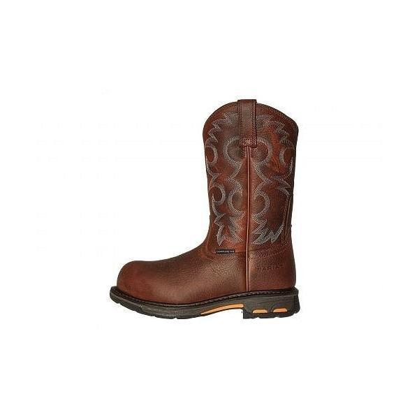 Ariat アリアト レディース 女性用 シューズ 靴 ブーツ 安全靴 ワークブーツ Workhog Pull-On CT - Nutty Brown