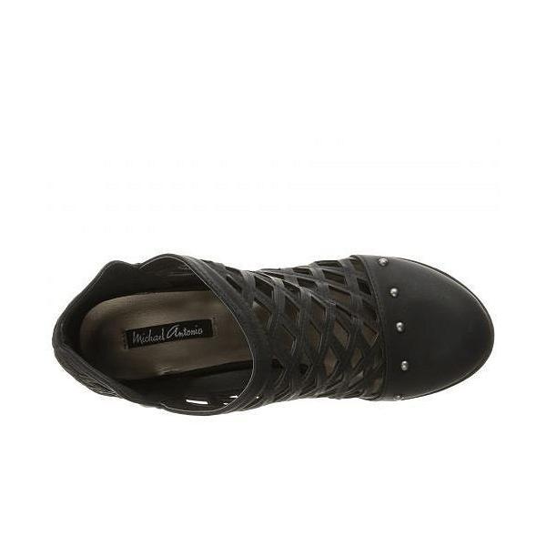 Michael Antonio マイケルアントニオ レディース 女性用 シューズ 靴 ブーツ アンクルブーツ ショート Stacey - Black Nubuck PU