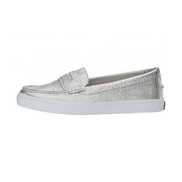 Cole Haan コールハーン レディース 女性用 シューズ 靴 ローファー ボートシューズ Pinch Weekender Luxe - Silver Soko Wash Leather/Ch Argento