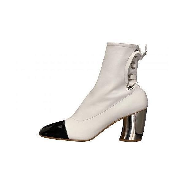 Proenza Schouler プロエンザスクーラー レディース 女性用 シューズ 靴 ブーツ アンクルブーツ ショート PS27160 - Optic White/Black/Silver