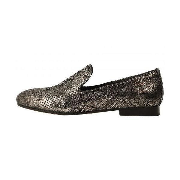 Johnston & Murphy ジョーンストンアンドマーフィー レディース 女性用 シューズ 靴 ローファー ボートシューズ Sierra - Graphite Italian Metallic Snake