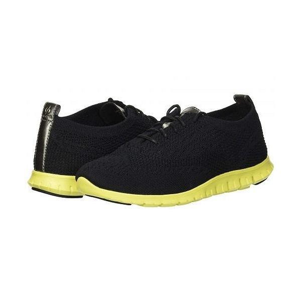 Cole Haan コールハーン レディース 女性用 シューズ 靴 スニーカー 運動靴 Zerogrand Stitchlite Winterized Oxford - Black Knit/Sulpher Spring