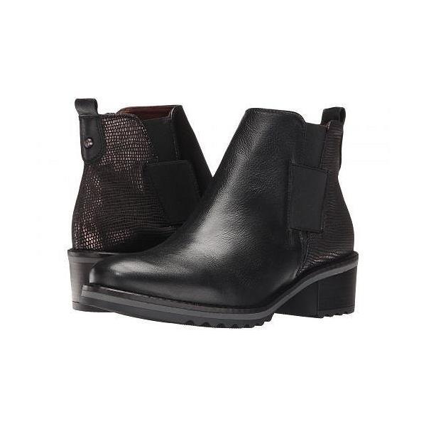 Hispanitas ヒスパニタス レディース 女性用 シューズ 靴 ブーツ アンクルブーツ ショート Lourdes - Soho Black/Tejus Black