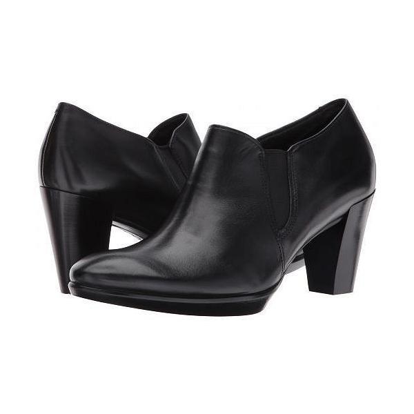 ECCO エコー レディース 女性用 シューズ 靴 ヒール Shape 55 Plateau Stack Shootie - Black/Black