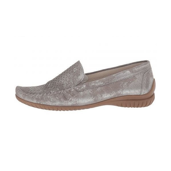 Gabor ガボール レディース 女性用 シューズ 靴 ローファー ボートシューズ Gabor 86.094 - Silver Caruso Metallic