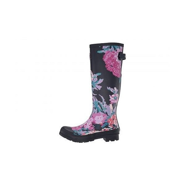 Joules レディース 女性用 シューズ 靴 ブーツ レインブーツ Welly Print - Navy All Over Floral