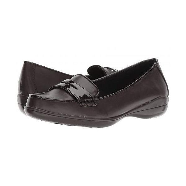 Soft Style ソフトスタイル レディース 女性用 シューズ 靴 ローファー ボートシューズ Daly - Dark Brown Vitello/Patent