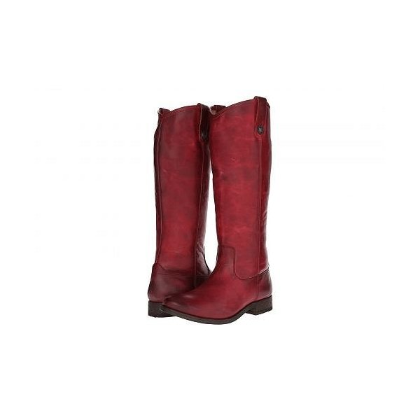 Frye フライ レディース 女性用 シューズ 靴 ブーツ ロングブーツ Melissa Button - Burgundy Washed Antique Pull Up