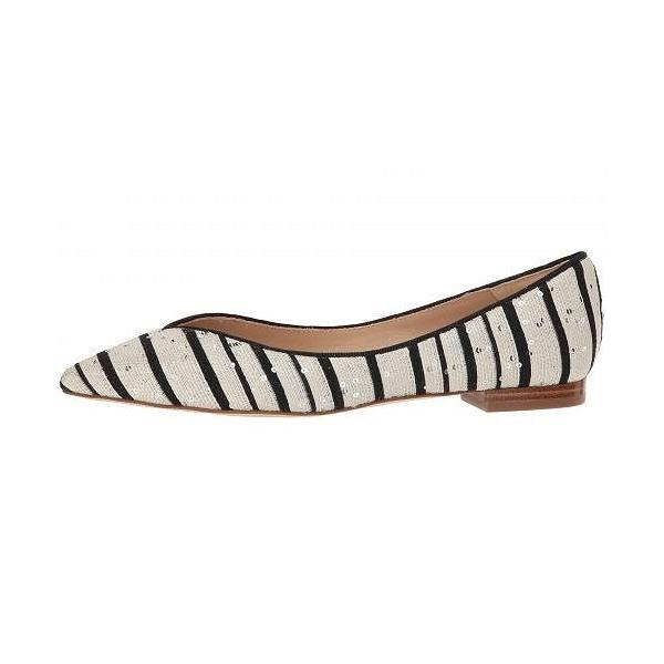 L.K. Bennett レディース 女性用 シューズ 靴 フラット Luisa - Black/White Sequin Striped Jacquard