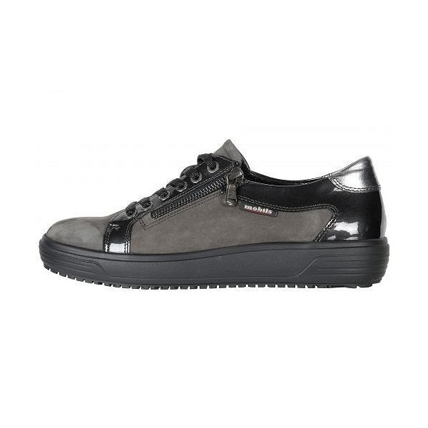 Mephisto メフィスト レディース 女性用 シューズ 靴 スニーカー 運動靴 Lenza - Grey Bucksoft/Patent/Steel Magic