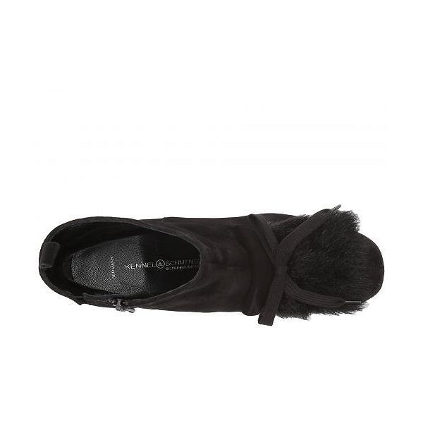 Kennel & Schmenger ケネルシュメンガー レディース 女性用 シューズ 靴 ブーツ アンクルブーツ ショート Kiki Embellished Boot - Schwarz Suede/Faux Fur
