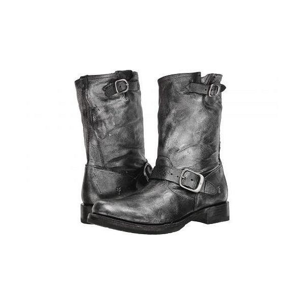 Frye フライ レディース 女性用 シューズ 靴 ブーツ ライダーブーツ Veronica Short - Black Multi Painted Metallic Full Grain