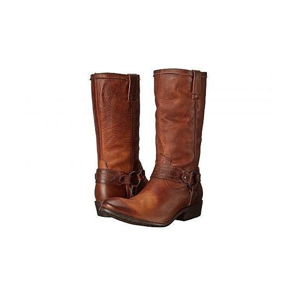 Frye フライ レディース 女性用 シューズ 靴 ブーツ ライダーブーツ Carson Harness - Cognac Washed Antique Pull Up