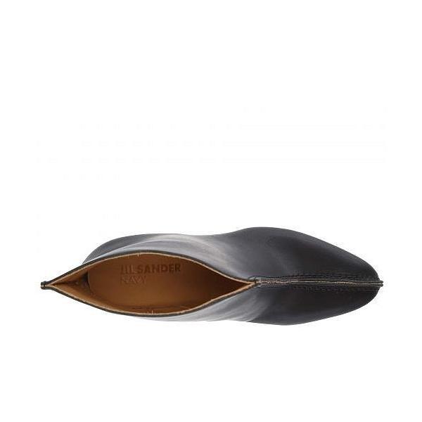 Jil Sander Navy ジルサンダーネイビー レディース 女性用 シューズ 靴 ブーツ アンクルブーツ ショート JN31044A - Black