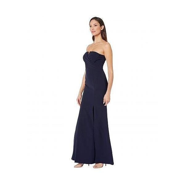 Vince Camuto ヴィンスカムート レディース 女性用 ファッション ドレス Sleeveless Keyhole Sheath Gown - Navy|ilovela|02
