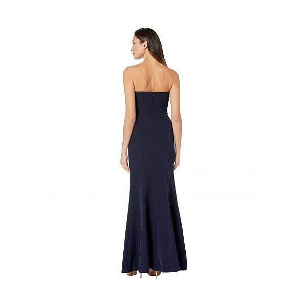 Vince Camuto ヴィンスカムート レディース 女性用 ファッション ドレス Sleeveless Keyhole Sheath Gown - Navy|ilovela|03