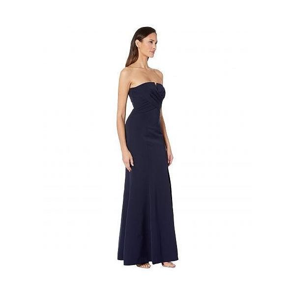 Vince Camuto ヴィンスカムート レディース 女性用 ファッション ドレス Sleeveless Keyhole Sheath Gown - Navy|ilovela|04