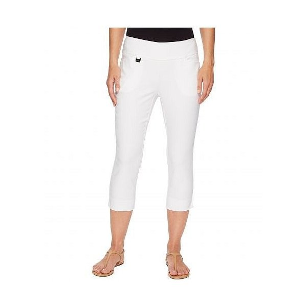 Lisette L Montreal レディース 女性用 ファッション パンツ ズボン Solid Magical Lycra(R) Capri Pants - White