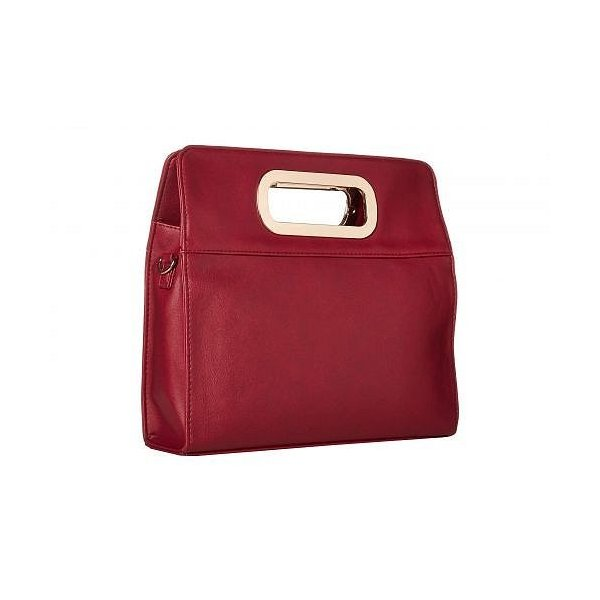 Rampage ランペイジ レディース 女性用 バッグ 鞄 バックパック リュック Clutch with Metal Handles and Crossbody Strap - Wine