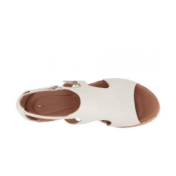 Clarks クラークス レディース 女性用 シューズ 靴 ヒール Un Plaza Strap - White Leather