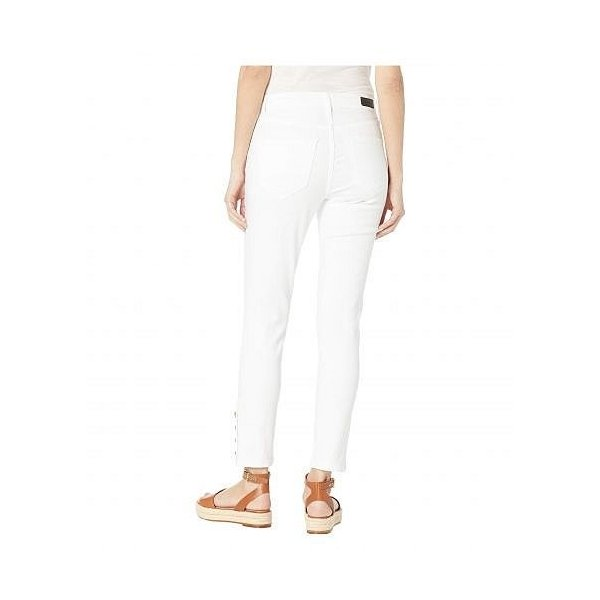 Nicole Miller New York 二コールミラー レディース 女性用 ファッション ジーンズ デニム Soho High-Rise Ankle Skinny - White