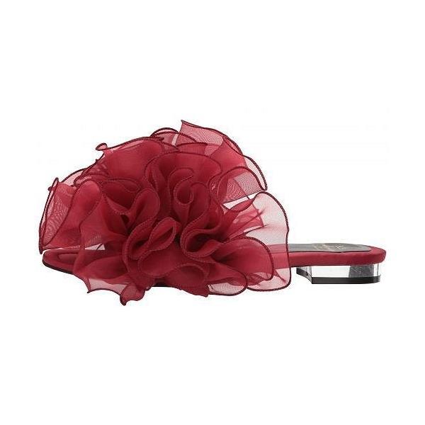 Suecomma Bonnie シューコンマボニー レディース 女性用 シューズ 靴 サンダル Chiffon Ruffle Detailed Sandals - Wine