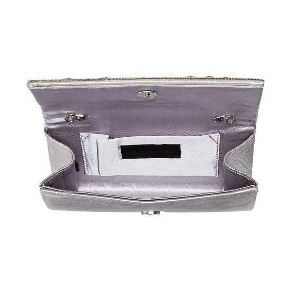 Jessica McClintock ジェシカマクリントック レディース 女性用 バッグ 鞄 ハンドバッグ クラッチ Chloe Fold-Over Crystal Clutch - Silver