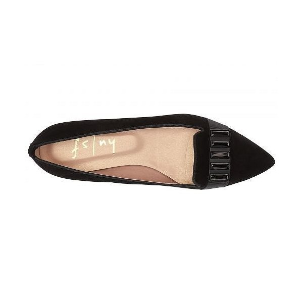 French Sole フレンチソール レディース 女性用 シューズ 靴 フラット Chop Flat - Black Suede