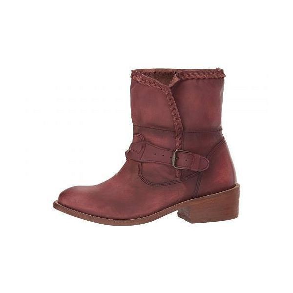 Musse&Cloud レディース 女性用 シューズ 靴 ブーツ アンクルブーツ ショート Kimber - Burgundy Leather