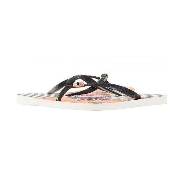 Havaianas ハワイアナス レディース 女性用 シューズ 靴 サンダル Slim Thematic Flip Flops - White/Black