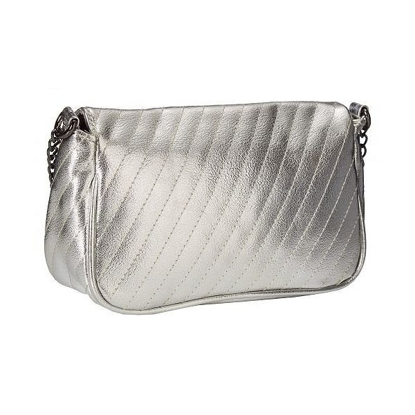 Rampage ランペイジ レディース 女性用 バッグ 鞄 バックパック リュック Turnlock Front Quilted Crossbody - Silver