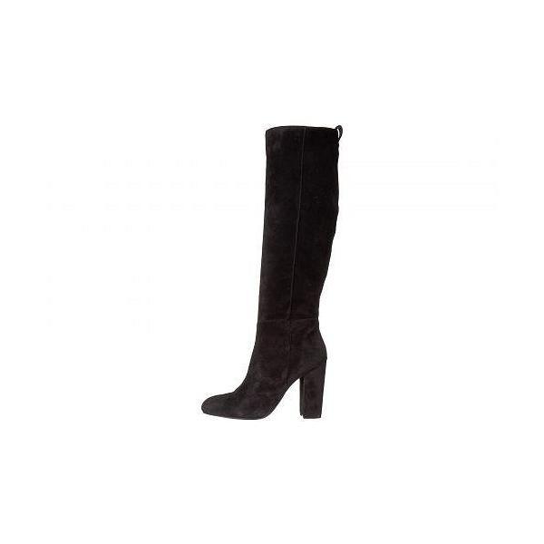 Steven スティーブマデン レディース 女性用 シューズ 靴 ブーツ ロングブーツ Tila - Black Suede