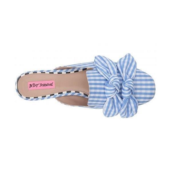 Betsey Johnson ベッツィージョンソン レディース 女性用 シューズ 靴 ローファー ボートシューズ Adina - Blue Gingham