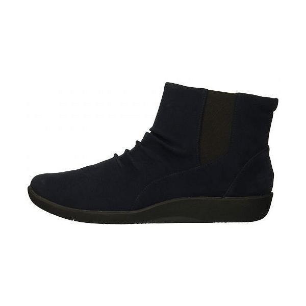 Clarks クラークス レディース 女性用 シューズ 靴 ブーツ アンクルブーツ ショート Sillian Rima - Navy Synthetic
