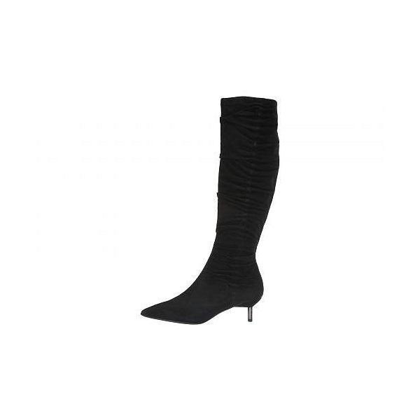 Donald J Pliner ドナルドジェープリナー レディース 女性用 シューズ 靴 ブーツ ロングブーツ Barita - Black Kid Suede
