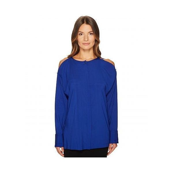 ESCADA エスカーダ レディース 女性用 ファッション ブラウス Naly Cold Shoulder Long Sleeve Top - Azure