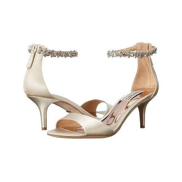 Badgley Mischka バッジリーミシュカ レディース 女性用 シューズ 靴 ヒール Geranium - Ivory Satin