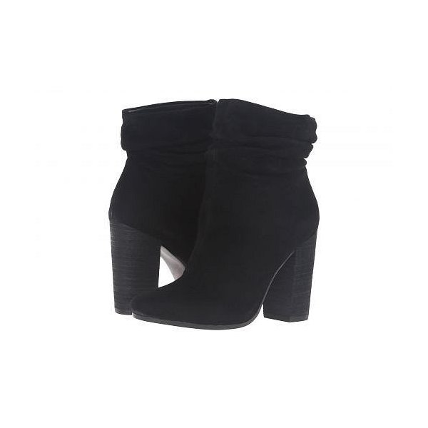 Kristin Cavallari レディース 女性用 シューズ 靴 ブーツ アンクルブーツ ショート Georgie Slouch Boot - Black Kid Suede