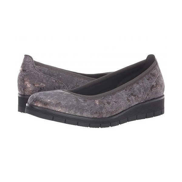 Gabor ガボール レディース 女性用 シューズ 靴 ローファー ボートシューズ Gabor 95.340 - Grey Metallic